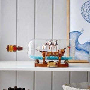 8.5折 $76.5(原价$89.99)LEGO 乐高 IDEAS 系列 瓶中船 92177 共953颗