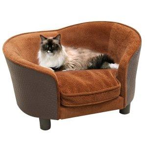 带可拆洗垫子藤制风格宠物沙发