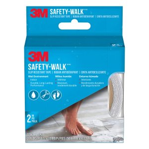 $12.73M Safety-Walk Tub and Shower Tread, Clear, 2-Inch by 180-Inch Roll, 7641NA