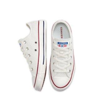 低至£19入 定价优势+尺码指南Converse 大童鞋35码-38码均可穿 像素鞋、情人节限定热卖
