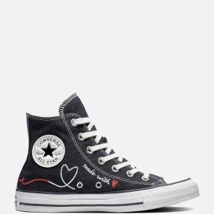 Converse码全黑底高帮情人节限定鞋