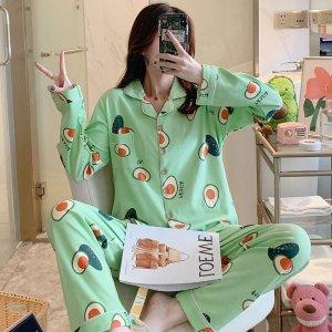 限时5.2折 仅€11.74收封面款可爱女生睡衣套装热卖 牛油果、小草莓款都有 闺蜜装好选择