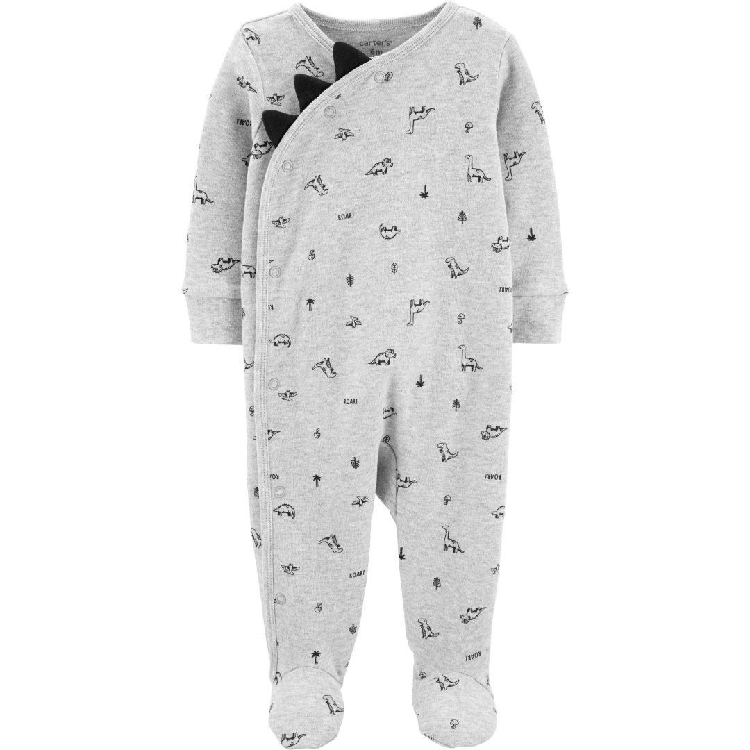 婴儿全棉恐龙包脚连体衣