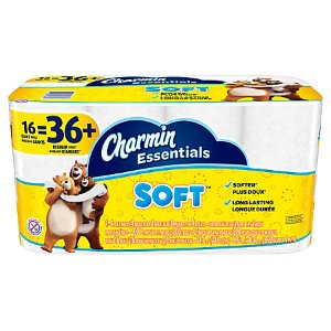 $6.99Charmin® Essentials Soft™ Bathroom Tissue, 2-Ply, 200 Sheets Per Roll, Pack Of 16 Rolls