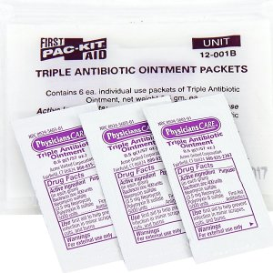 $2.25Pac-Kit by First Aid Only 12-001 Triple Antibiotic Ointment Packet (Box of 12)