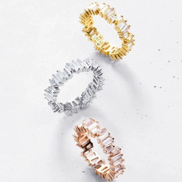 戒指 925纯银 3色