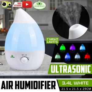 $30.9(原价$79)Home Ready 3.4升超声波静音冷雾空气加湿器