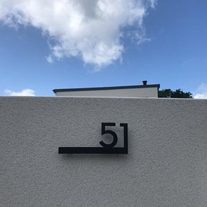 Modern House Numbers  Black with Black Acrylic  Contemporary | Etsy