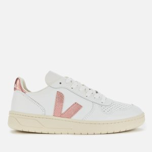 VejaWomen's V-10 Leather Trainers - Extra White/Nacre