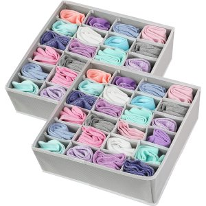 2 Pack - Simple Houseware Closet Socks Organizer