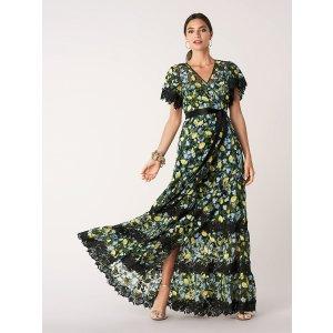 Diane von Furstenberg雪纺层层裙