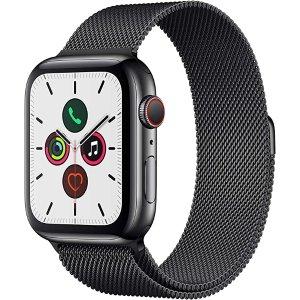 AppleWatch Series 5 (GPS+Cellular, 44mm) -碳素黑表带