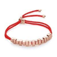 Monica Vinader 玫瑰金红绳