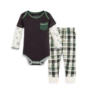 Burt's Bees Baby婴童有机棉包臀衫套装