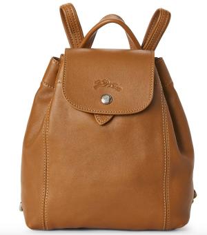 Longchamp Natural Le Pliage Cuir Backpack @ Century 21