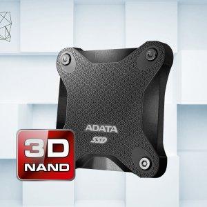 256GB/512GB 现价 $34.99/$67.19ADATA Durable SD600 3D NAND 外置硬盘 黑红双色可选