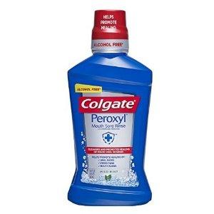 $6.73 包邮Colgate Peroxyl 口腔溃疡专用漱口水 薄荷味 500ml