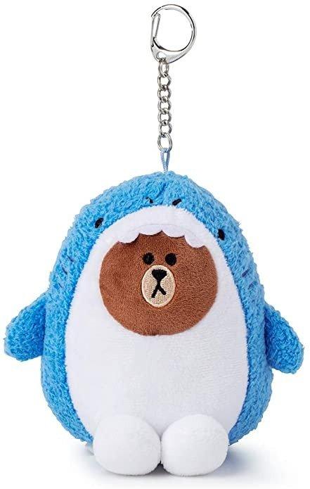 布朗熊 鲨鱼造型钥匙扣