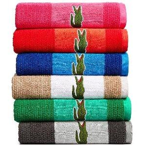 $13Lacoste Match Cotton Colorblocked Bath Towel
