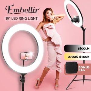$149(原价$224)Embellir 19寸58W大功率环形补光灯 5800LM光通量