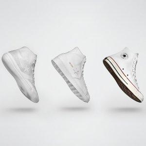 低至5折+满$150减$30Converse官网 百搭白色系专场 Pro Leather小白鞋$90