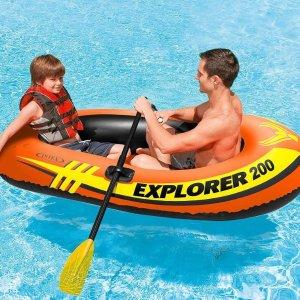 $20.2(原价$33)Intex Explorer 双人充气橡皮艇清仓价,说走就走的划水之旅