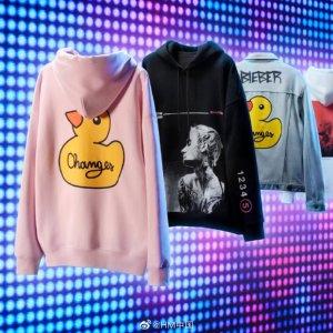 新人9折 €13.49收比伯小黄鸭T恤上新:H&M X Justin Bieber 同名系列 酷飒街头风 穿出冬日时尚