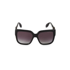 Alexander McQueen56MM Jeweled Square Sunglasses