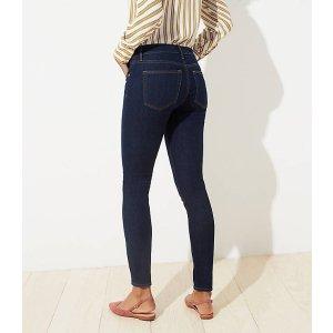 LOFTSkinny Jeans in Dark Rinse Wash   LOFT