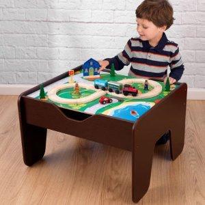 $58.99KidKraft 2合1可翻面儿童游戏活动桌(包含230个玩具配件)