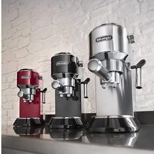 $249.98(原价$379.99)DeLonghi EC680M Dedica泵压式咖啡机 超薄机身省空间