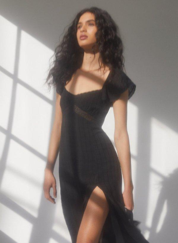 moonshine dress开叉连衣裙