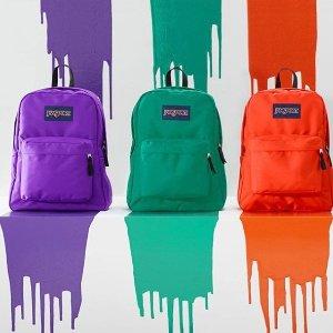 全场低至$30+无门槛免邮Jansports 多款包包超低价 校园必备 包包中的大胃王