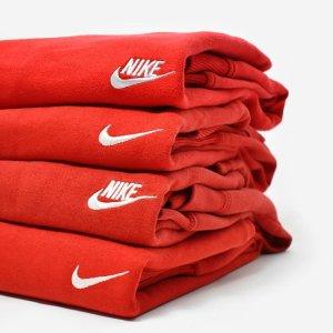 低至6折 $35收T恤牛年大吉:Nike 牛年红色运动服饰 $55收红色卫衣