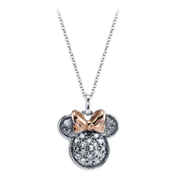 钻石镶嵌 米妮造型项链