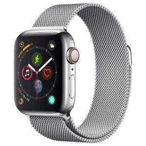 Applewatch 4代(GPS +蜂窝电话,40mm)- 银色不锈钢表壳