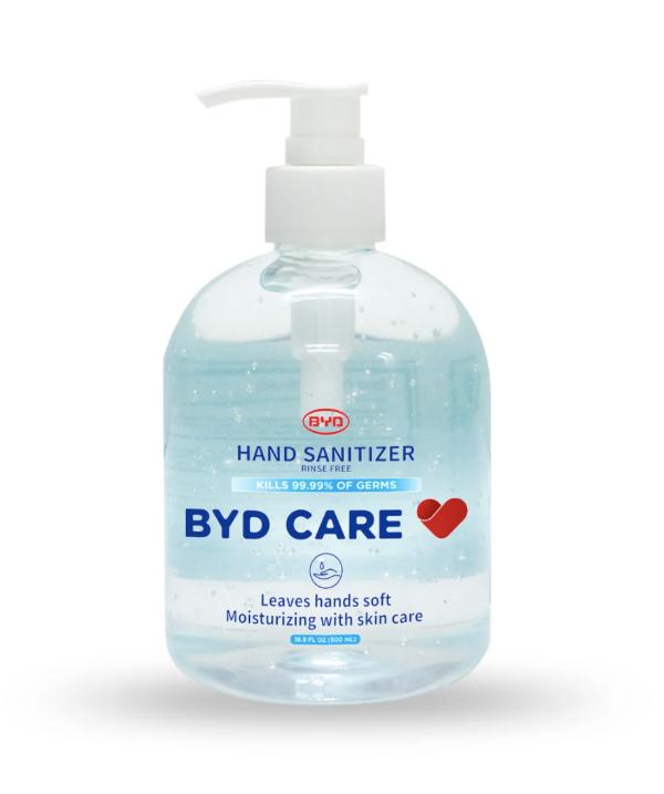 BYD 按压式免洗洗手液 无香料防过敏 16.9 oz