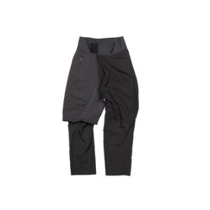 Julius657PAM2/ COMBINATION TUCKED BAGGY PANTS