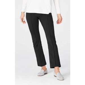 Lightweight Ponte Kick-Flare Pants
