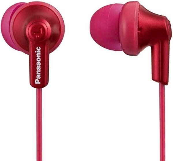 Ergofit in-Ear Earbud Headphones Metallic Red (RP-HJE120-RA)