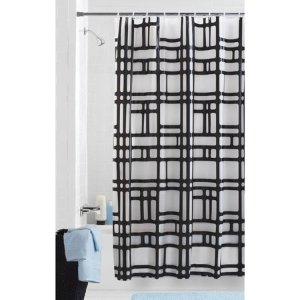 $5.48 (原价$15.88)Mainstays 几何图形淋浴帘