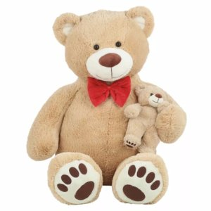 $14.94 59 in. Giant Brown Bear with Baby