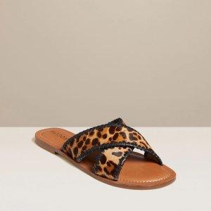 Jack Rogers豹纹凉拖鞋