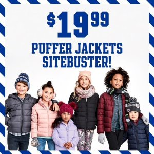 $19.99Kids Puffer Jacket @ Children's Place