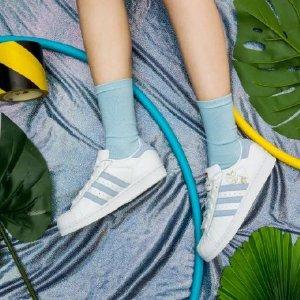 5折起+额外8折 £44入封面款贝壳头adidas 精选Superstar系列美鞋折上折热卖