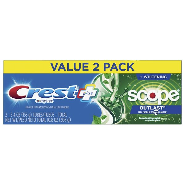 Scope Outlast Complete Whitening Toothpaste