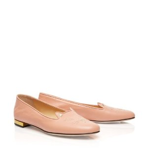 Women's Designer Flat Shoes |- NOCTURNAL KITTY