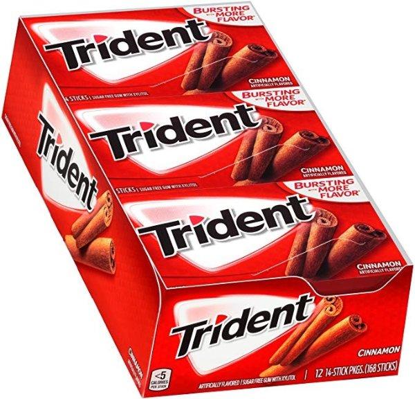无糖口香糖 肉桂口味 12包 共168粒