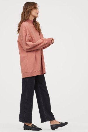 Oversized Sweatshirt - Dusty rose - Ladies   H&M US