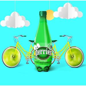 $15.99(原价$24.99) 一瓶只要$0.67Perrier 巴黎水 气泡水 青苹果味 500ml 24瓶装 零卡
